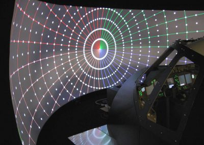Multi Projector Flight Simulator