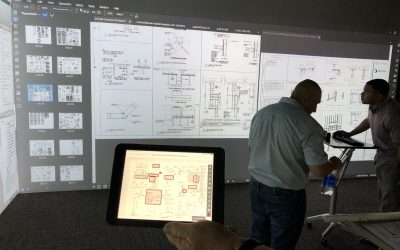 Scalable Display Technologies and CUBE Magnify Construction Design